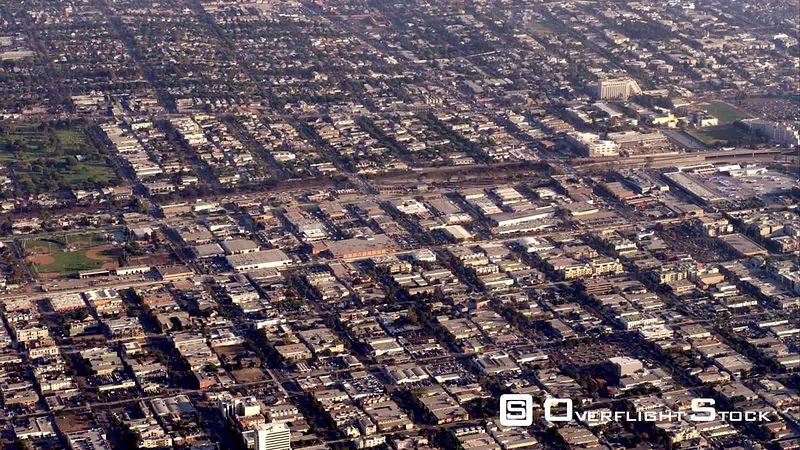 Aerial View Of Urban Sprawl, RED R3D 4k California
