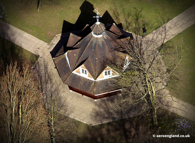 aerial photograph of the Rest House in Bournville  Birmingham  UK