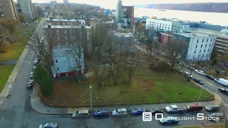 Drone Video of Hudson River and views of the Bronx Yonkers New York