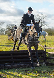 Ed Winterton jumping a fence at Cream Gorse - The Quorn at Cream Gorse Farm