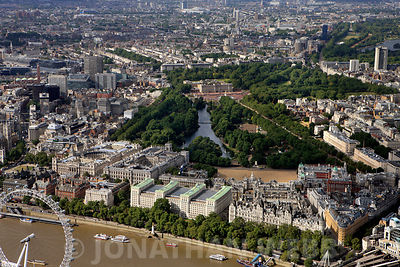 aerial photograph of Whitehall,Westminster  ,  London SW1A 2ETn England UK showing Horse Guards Ave SW1A 2HU , Whitehall Ct SW1A, Downing St, London SW1A 2AA, King Charles St, SW1A 2AH , Victoria Embankment and Great George St, Westminster, London SW1P 3AE