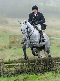 Dick Wise jumping a hunt jump at Newbold
