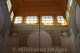 Inside the Mausoleum of Moulay Ismail, Meknes, Morocco; Landscape