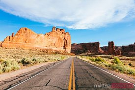 Road, Arches National Park, Utah, USA