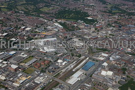Bolton aerial photograph looking from Bolton railway station towards the Town Hall