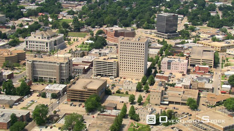 High view over downtown Lafayette, Louisiana  links with GCC115 & GCC117.