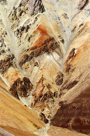 Close up of rock formations of crater wall, Tunupa volcano, Oruro Department, Bolivia