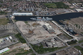 Enterprise Zone Old Docklands Industrial Wasteland Mobil and Royal Naval Ships West Float North Birkenhead