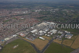 Blackpool aerial photograph of the Squiresgate industrial estate on Blackpool airport