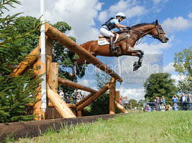 Jonelle Richards and FLINTSTAR - cross country phase,  Land Rover Burghley Horse Trials, 7th September 2013.