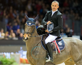 Bordeaux, France, 3.2.2018, Sport, Reitsport, Jumping International de Bordeaux - Prix HOTEL BURDIGALA .Trophée BORDEAUX METROPOLE. Bild zeigt Olivier ROBERT (FRA) riding Forest Gump...3/02/18, Bordeaux, France, Sport, Equestrian sport Jumping International de Bordeaux - Prix HOTEL BURDIGALA .Trophée BORDEAUX METROPOLE. Image shows Olivier ROBERT (FRA) riding Forest Gump.