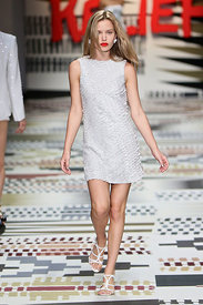 Fashion For Relief Catwalk at Somerset House sees stars on the catwalk.
