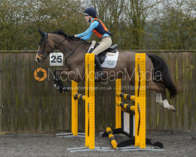 Alisha Selby - Class 5 - The Cottesmore Hunt Pony Club Eventer Trial, Ranksboro Polo, Friday 3rd April 2015.