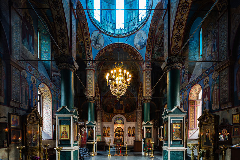 Interior of the Church of San Nikoloz