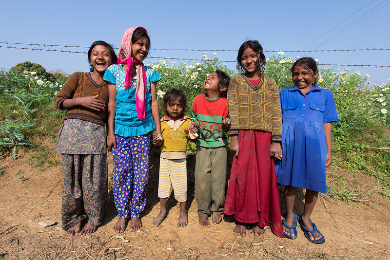 Girls on a flower farm, Doomara village, Rajasthan, India. This is one of my absolute all-time favorite photos, as it perfectly captures how happy these hardy, hard-working people are.