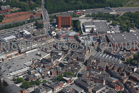 Stockport aerial photograph of Veron Street and the surrounding area looking towards the Motorway