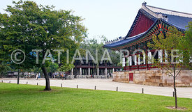 Gyeongbokgung Palace in summer; Seoul, South Korea