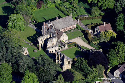 aerial photograph of Wenlock Prory Much Wenlock Shropshire England UK