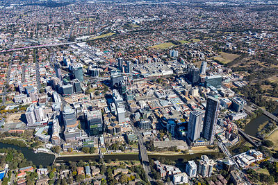 Parramatta CBD from the North