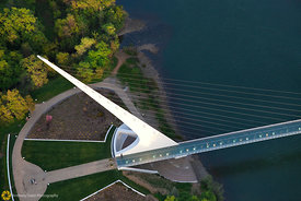 Sundial Bridge From the Air #18