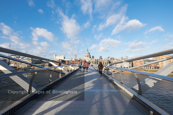 St Pauls Cathedral and the Millennium Bridge, London, England