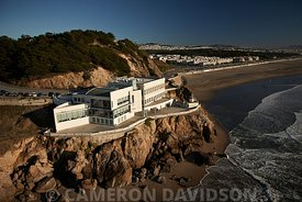 Cliff House San Francisco California Aerial Photograph Alcatraz