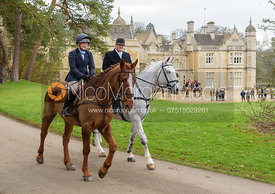 Bec Hewitt, John Greaves at the meet at Exton Hall