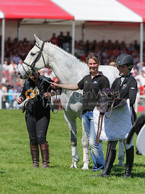 Caroline Powell and LENAMORE - show jumping phase,  Mitsubishi Motors Badminton Horse Trials, 6th May 2013.