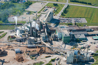 Pulp Mill Aerial Photo