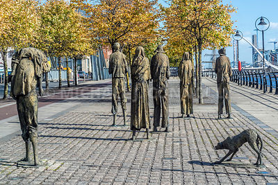 Famine Memorial (2)- Custom House Quay, Dublin, Ireland