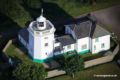 aerial photograph of Cromer Lighthouse, Cromer  Norfolk England UK