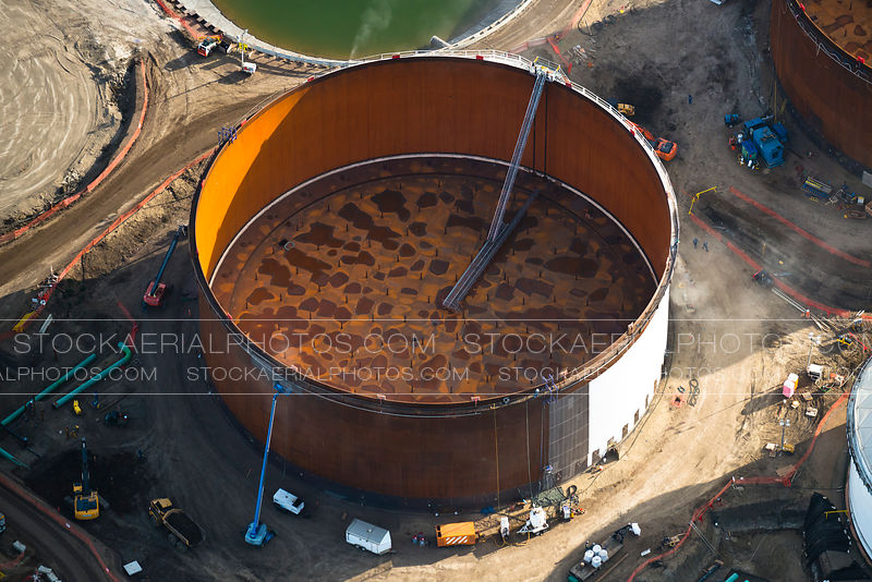 Crude Oil Tankage, Aerial Photo