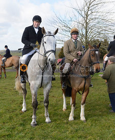Followers at the meet at Ladywood Lodge