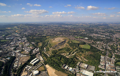 aerial photograph of Sheffield South Yorkshire England UK