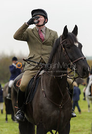 At the meet - The Cottesmore Hunt at Dene Bank Farm 3-12