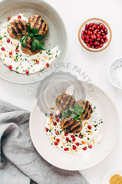 Turkish Meatballs and Tahini Yogurt Sauce
