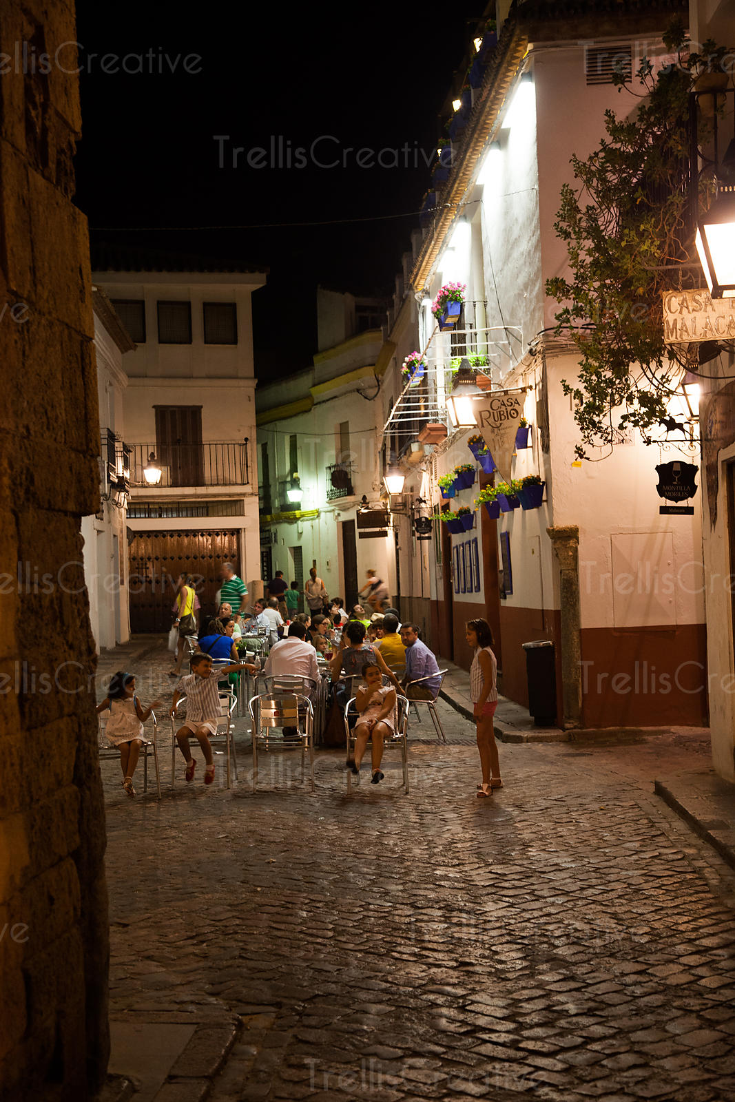 Nightlife in the old city of Cordoba, Spain