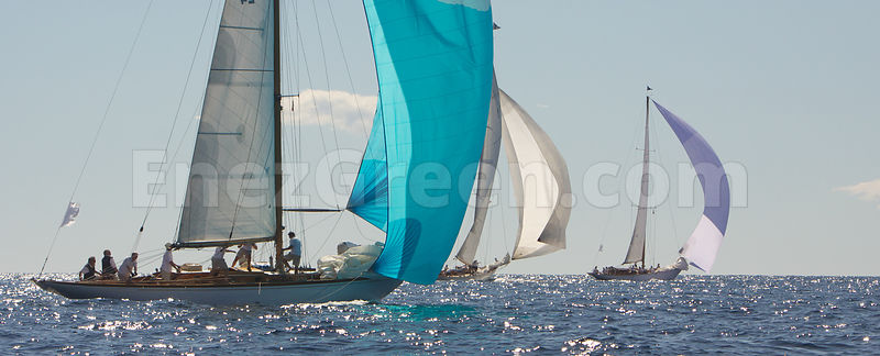 Sailing boats offshore French Riviera