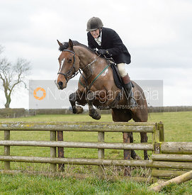 Charlie Smith jumping a fence at Burrough House