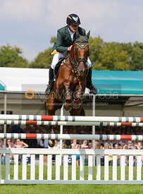Michael Ryan and BALLYLYNCH ADVENTURE - show jumping phase, Burghley Horse Trials 2014.