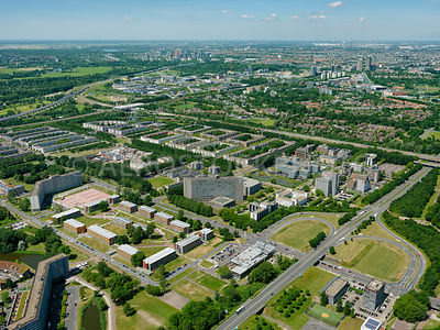 Student Campus Spinoza (Spinozacampus) and business and office area Bergwijkpark, Amsterdam South East, Netherlands