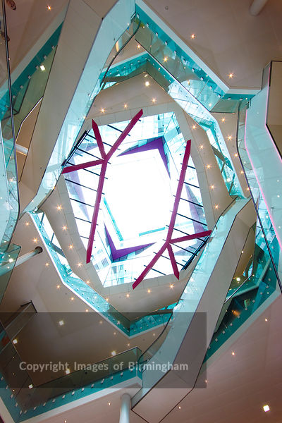 The interior of The Cube building, Birmingham, West Midlands, England, UK