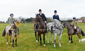 Roger Lee, Alexandra Mundy and family - The Cottesmore Hunt at Castle Bytham