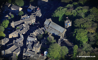 aerial photograph of Haworth  West Yorkshire England  UK