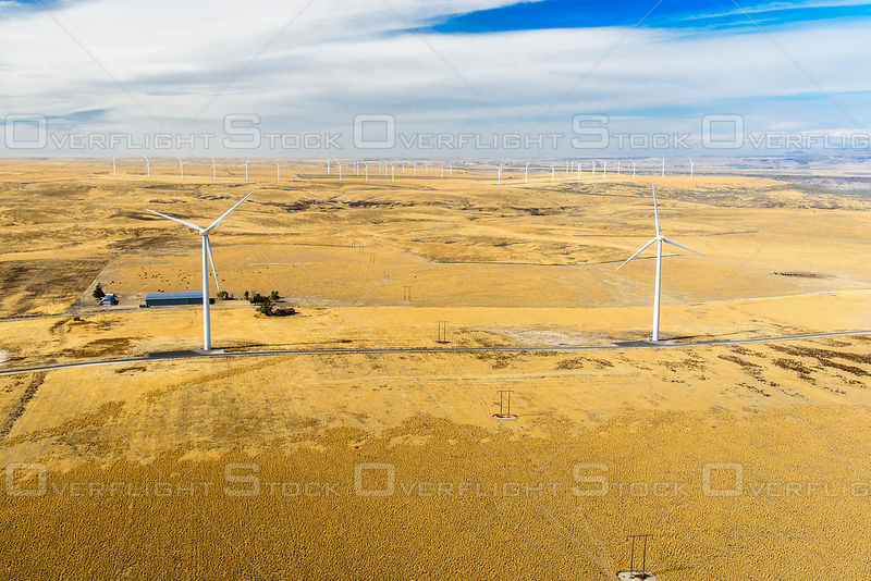 Wind Farm Turbine Electrical Generators Idaho Usa