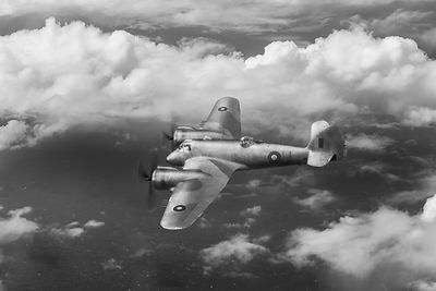 SEAC Beaufighter B&W version
