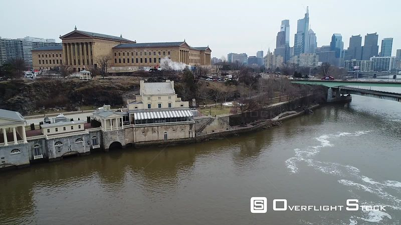 Drone Video Philly Museum of Art Philadelphia Pennsylvania