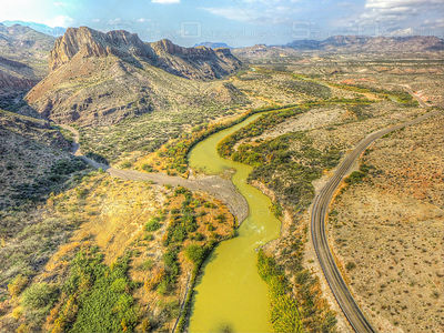 Big Bend State Park Rio Grande River Texas