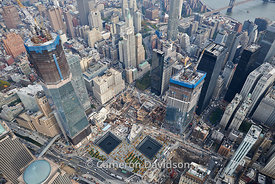 Aerial photograph of the New York city Financial District - Wall Street