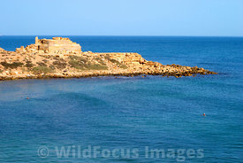 LIBYA: Leptis Magna - Lighthouse Foundation on Western side of Harbour Entrance
